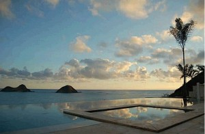 Lanikai beachfront home offering luxury and privacy