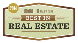 Best in Hawaii real estate award - 2014