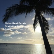 Oahu real estate statistics November 2015