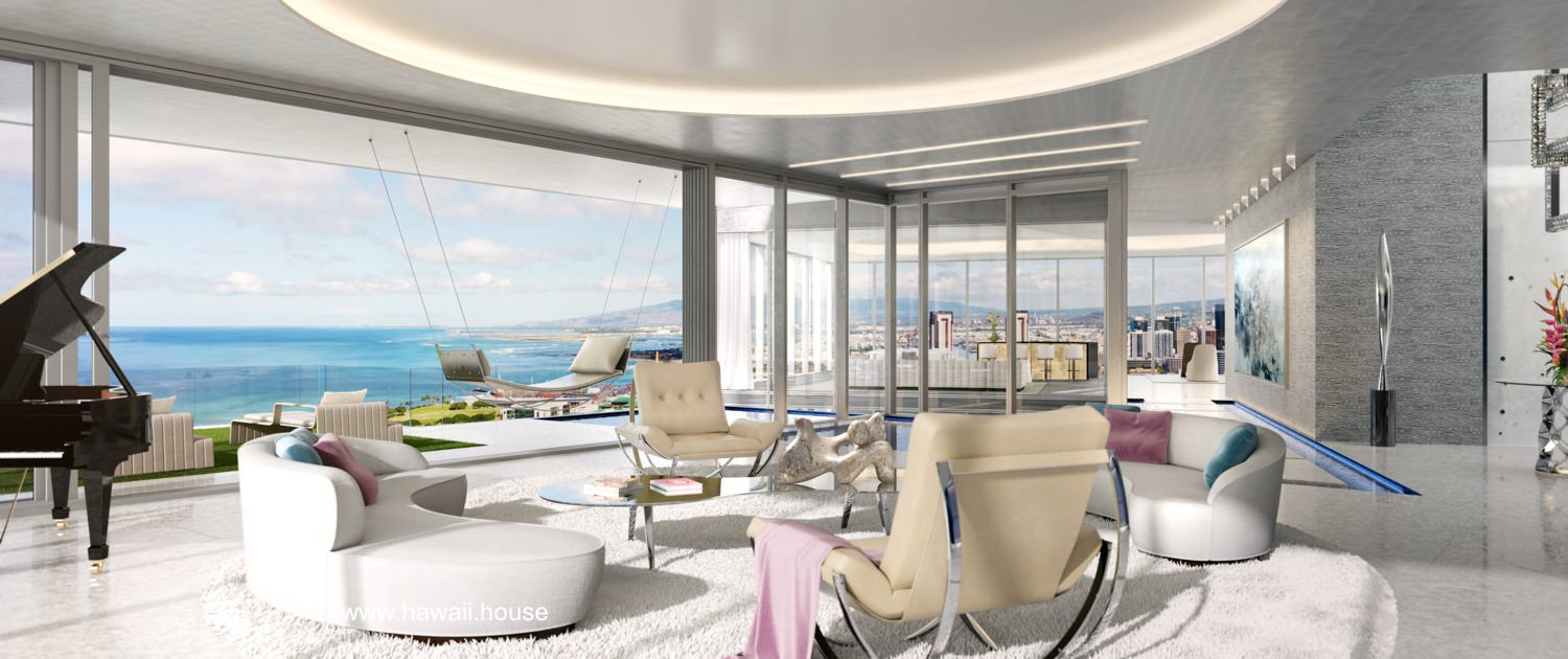 Waiea Grand PentHouse Living area Hawaii House