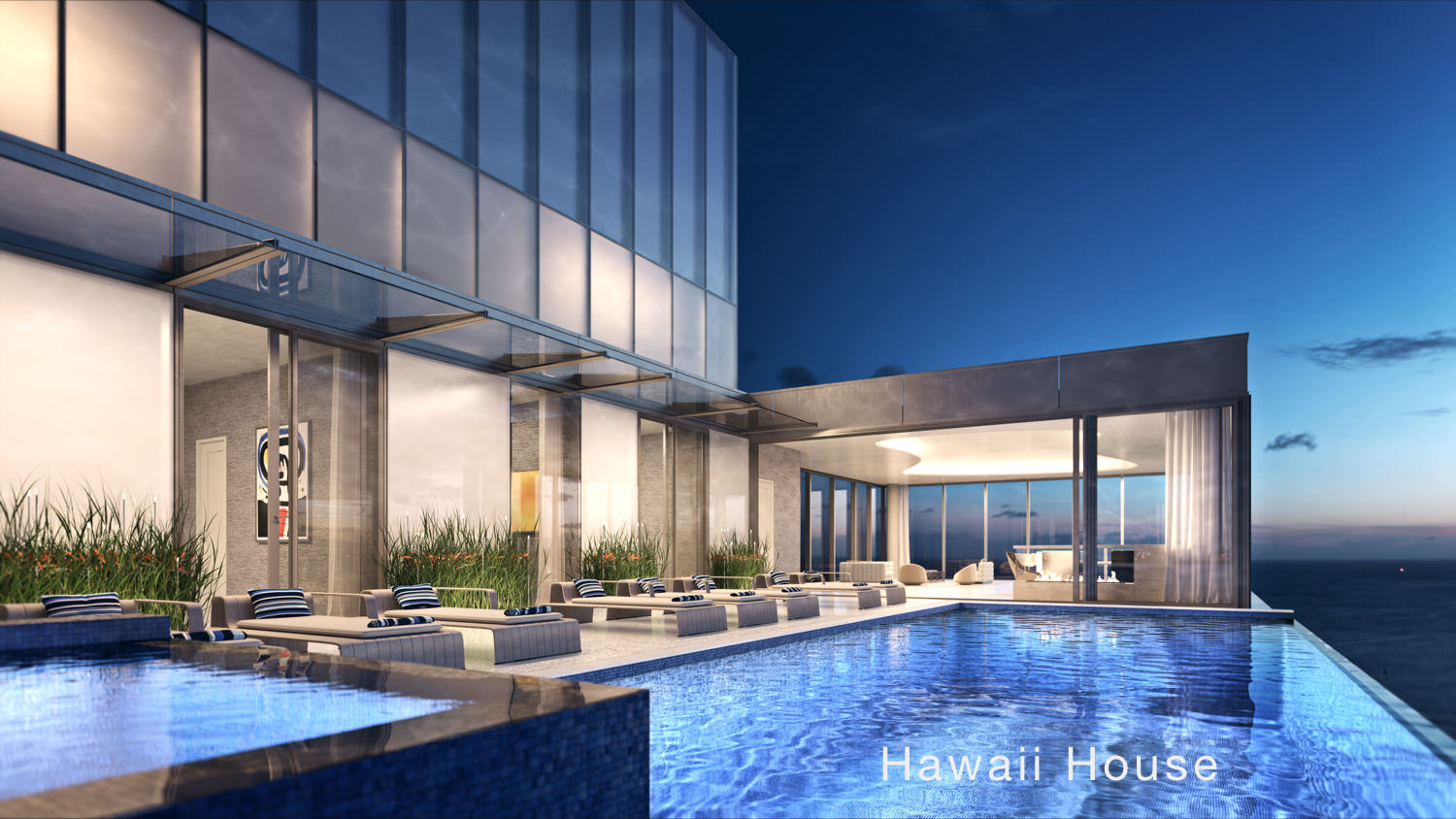 Waiea Honolulu grand penthouse pool - Hawaii House