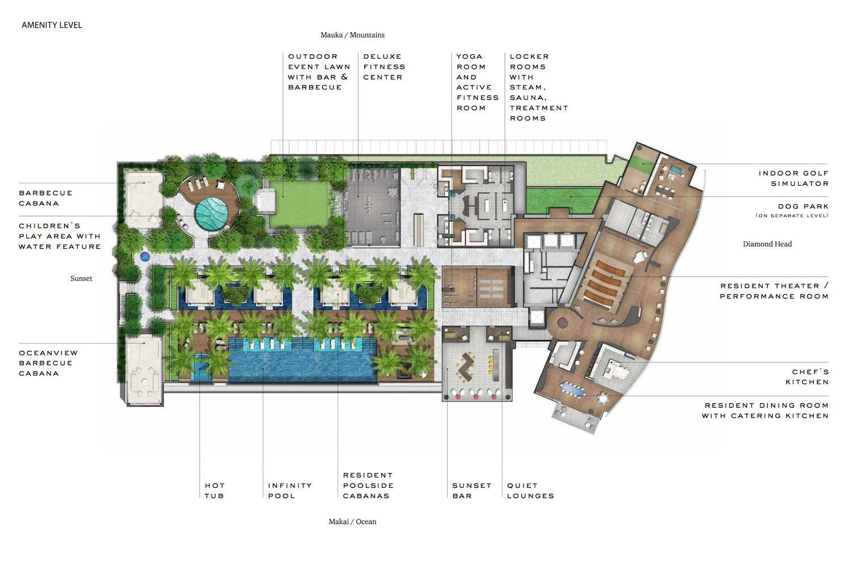Waiea amenities map Hawaii House
