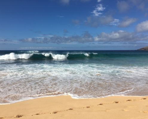 Ocean wave Sandy Beach Hawaii Kai